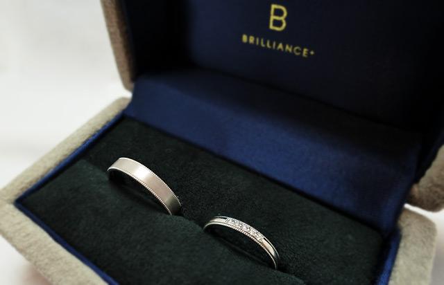 ブリリアンス+のミルグレインの結婚指輪