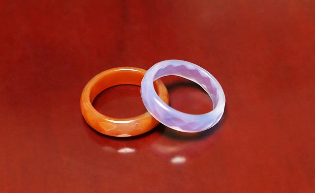 メノウの指輪