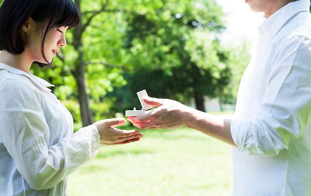 指輪をプレゼント