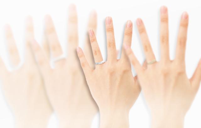 太い指、細い指